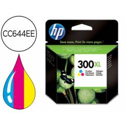 Cartucho marca HP 300XL Tricolor CC644EE