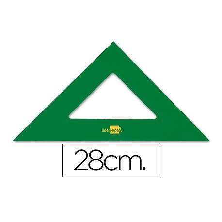Escuadra acrilica Liderpapel 28cm color Verde