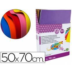 Expositor Goma eva liderpapel de 50 planchas x de 10 colores surtidos