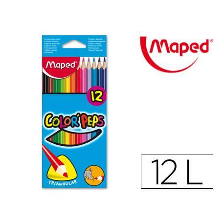 Lapices de colores triangulares Maped caja 12 unidades
