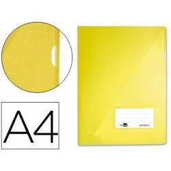 Funda dossier uñero con solapa Liderpapel Din A4 color amarillo