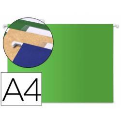 Carpeta colgante marca Liderpapel A4 Kraft Verde