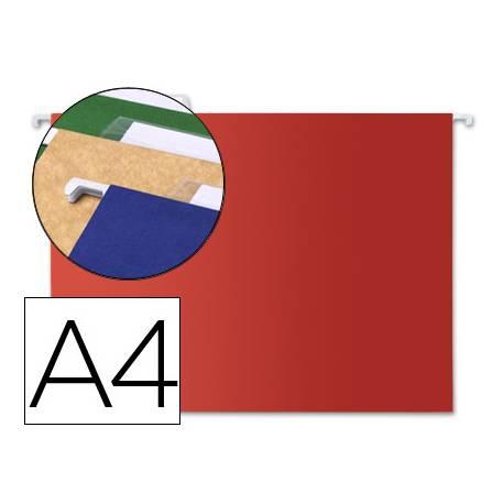 Carpeta colgante marca Liderpapel A4 Kraft Rojo