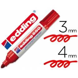 Rotulador Permanente Edding 550 Color Rojo Punta redonda