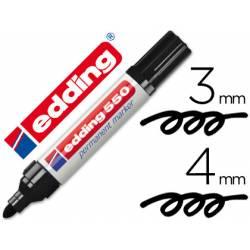 Rotulador Permanente Edding 550 Color Negro Punta redonda