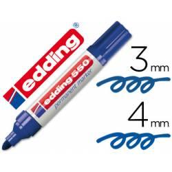 Rotulador Permanente Edding 550 Color Azul Punta redonda