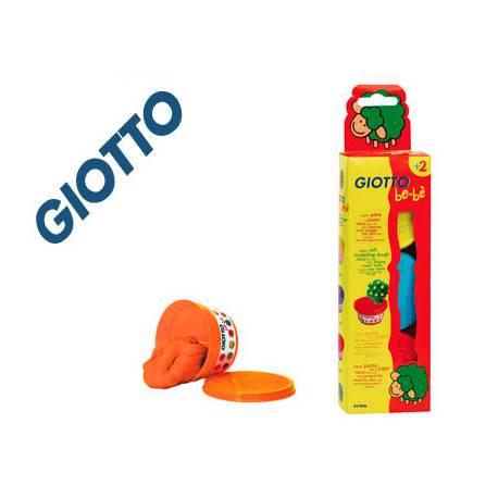 Pasta para modelar marca Be-be Giotto Colores Amarillo, Azul y Roja