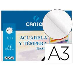 Papel acuarela Canson A3 gramaje 370 g/m2