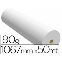 Papel reprografia para Plotter 90 g/m2, 1067 mm x 50 m.
