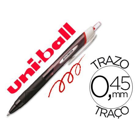 Rotulador-Bolígrafo roller Uni-Ball rojo Jet Stream junior 0,45 mm SXN-150