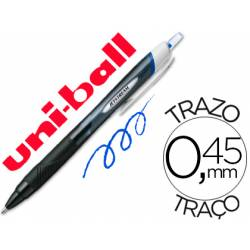 Rotulador-Bolígrafo roller Uni-Ball azul Jet Stream junior 0,45 mm SXN-150