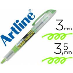 Rotulador Artline EK-640 Fluorescente color Verde Punta biselada