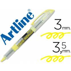 Rotulador Artline EK-640 Fluorescente color Amarillo Punta biselada