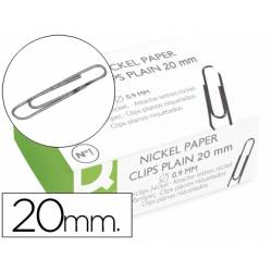 Clips niquelados Nº1 marca Q-Connect 20 mm