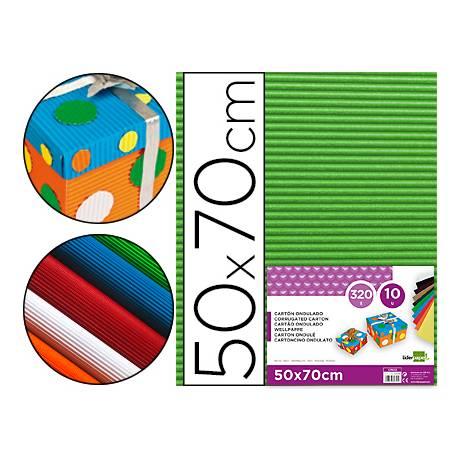 Carton ondulado Liderpapel color verde hoja