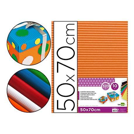 Carton ondulado Liderpapel color naranja