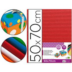Carton ondulado Liderpapel color rojo