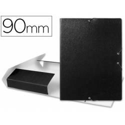 Carpeta de proyectos Liderpapel de carton con gomas negro 9 cm