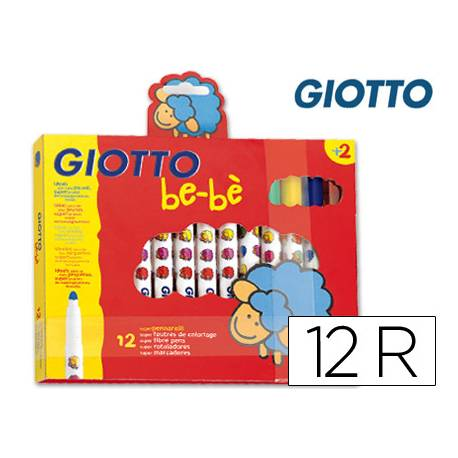 Rotulador Giotto Super Be-be punta gruesa lavable caja 12 unidades