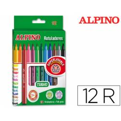 Rotulador Alpino Standard Punta Fina Lavable Caja 12 rotuladores