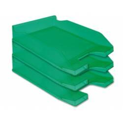 Bandejas sobremesa plastico Q-Connect color verde