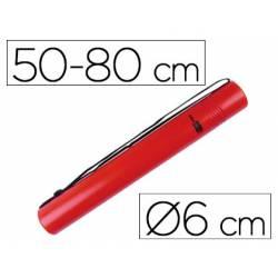Portaplanos plastico extensible Liderpapel color rojo