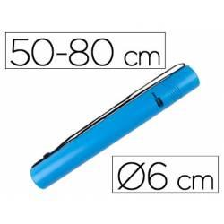 Portaplanos plastico extensible Liderpapel color azul
