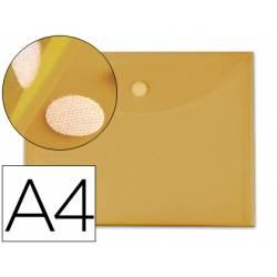 Carpeta sobre con velcro Din A4 Liderpapel amarillo