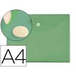 Carpeta sobre con velcro Din A4 Liderpapel verde