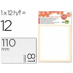 Etiquetas Adhesivas marca Liderpapel Obsequio 81 x 110 mm