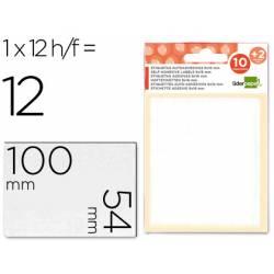 Etiquetas Adhesivas marca Liderpapel Obsequio 54 x 100 mm