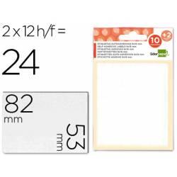 Etiquetas Adhesivas marca Liderpapel Obsequio 53 x 82 mm