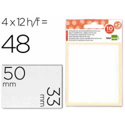 Etiquetas Adhesivas marca Liderpapel Obsequio 33 x 50 mm