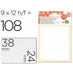 Etiquetas Adhesivas marca Liderpapel Obsequio 24 x 38 mm