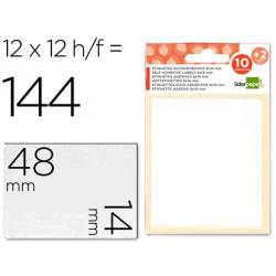 Etiquetas Adhesivas marca Liderpapel Obsequio 14 x 48 mm