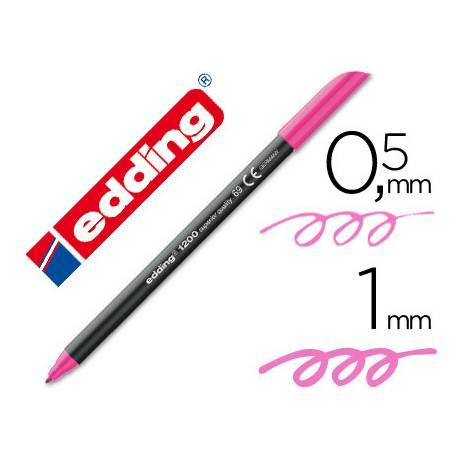 Rotulador Edding 1200 neon rosa nº 69