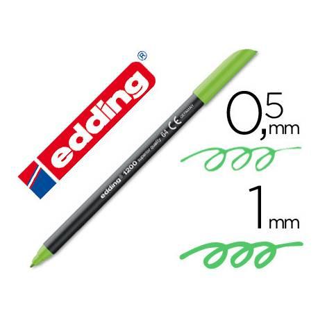 Rotulador Edding 1200 neon verde nº 64