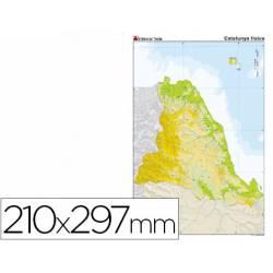 Mapa mudo de Cataluña fisico