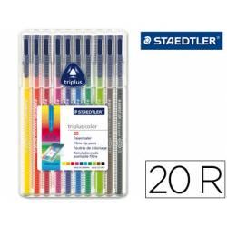 Rotulador Staedler Triplus punta fina triangular surtido pack 20
