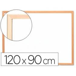 Pizarra Blanca laminada con marco de madera 120x80 Q-Connect