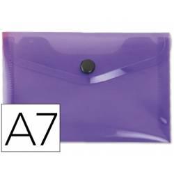 Carpeta sobre Liderpapel broche violeta Din A7
