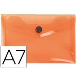 Carpeta sobre Liderpapel cierre broche naranja Din A7