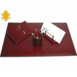 Escribania Sobremesa piel base de madera