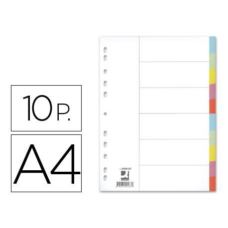Separadores de cartulina Q-Connect multitaladro Din A4