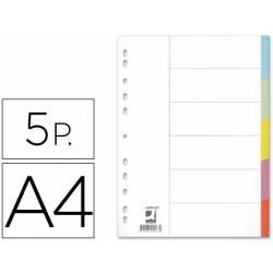 Separadores de cartulina Q-Connect multitaladro Din A4 Juego de 5
