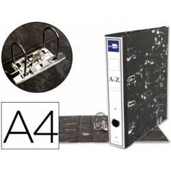 Archivador de Palanca Liderpapel Carton Forrado DIN A4 Lomo 75 mm color Negro Jaspeado
