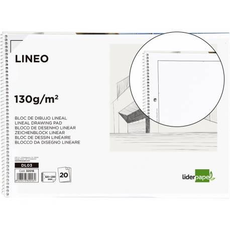 Bloc Liderpapel de dibujo blanco microperforado tamaño folio con recuadro