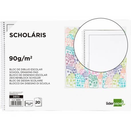 Bloc Liderpapel de dibujo escolar serie Monet DIN A4