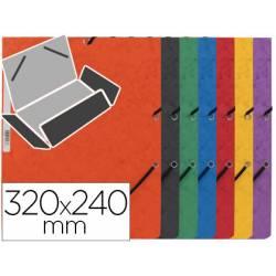 Carpetas de gomas carton prespan Q-Connect Din A4 surtido
