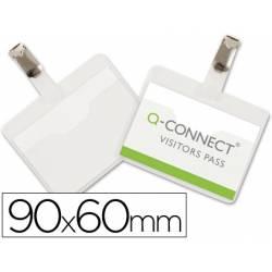 Identificadores Q-Connect con Pinza Metalica en PVC